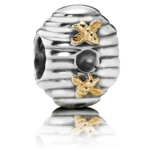 Retired Pandora Bee Hive Charm 14k Gold Amp Sterling