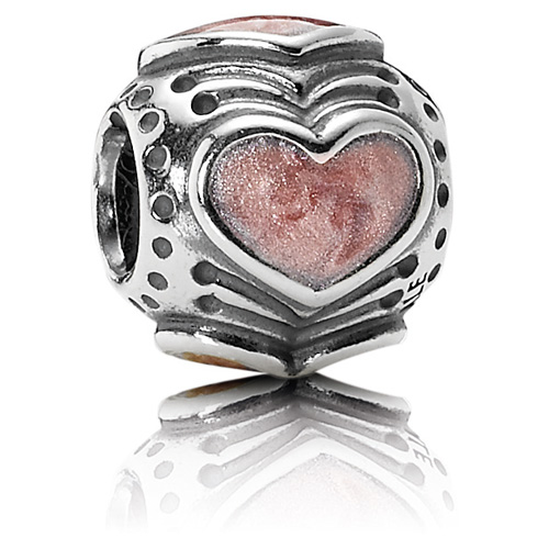 Pandora Jewelry St Louis: Retired PANDORA Rose Enamel Hearts Charm :: Enamel Charms