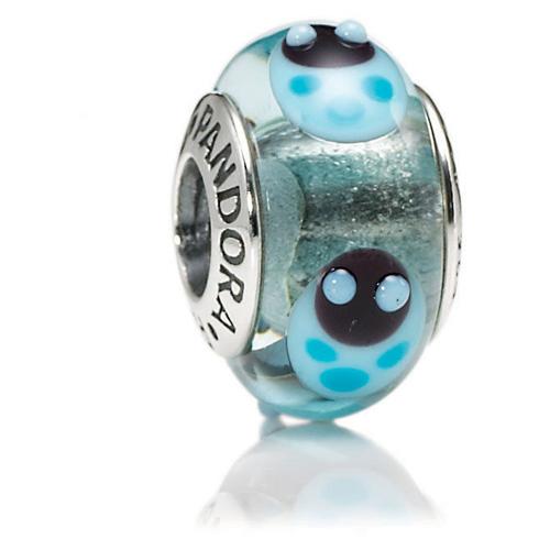 retired pandora blue ladybugs charm murano glass charms
