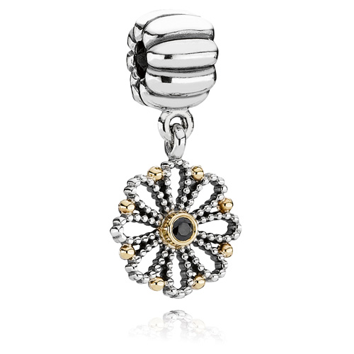 Pandora Jewelry St Louis: Retired PANDORA Lace Flower Dangle Clip :: Clips 790874CZK