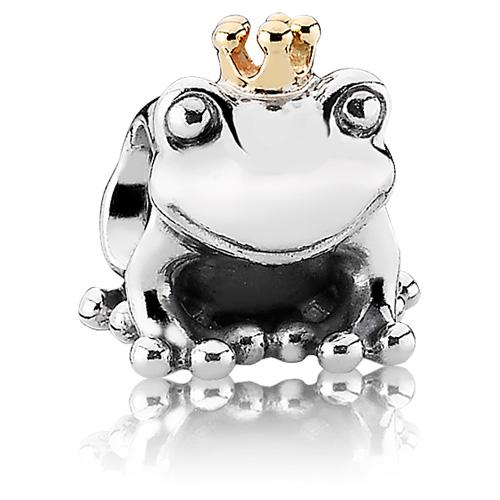Pandora Jewelry Llc: Retired PANDORA Frog Prince Charm :: 14K Gold & Sterling