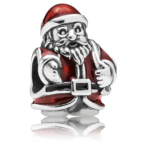 retired pandora st nick santa claus charm enamel