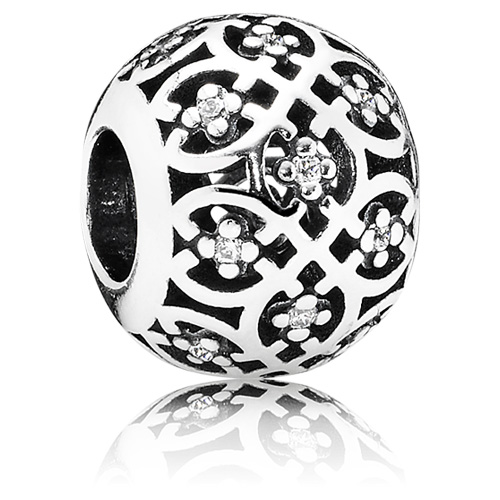 Pandora Jewelry St Louis: Retired PANDORA Intricate Lattice Charm With Clear