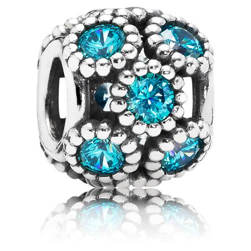 Pandora Jewelry Llc: PANDORA Studded Lights Charm With Teal Zirconia :: Gems