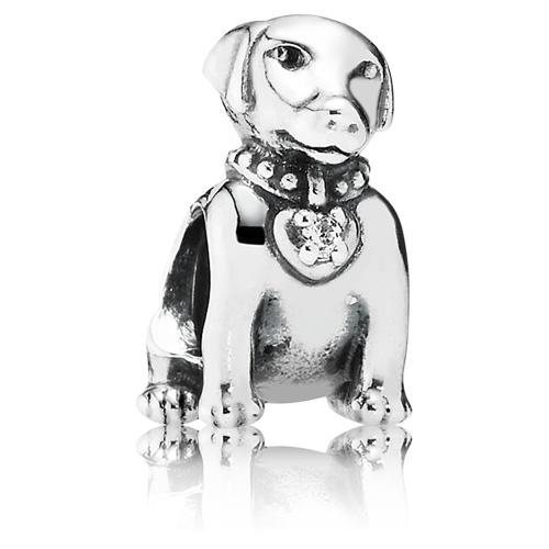 Pandora Jewelry Llc: Retired PANDORA Labrador Dog Charm With Zirconia :: Gems
