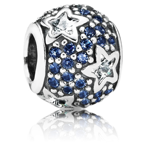 Pandora Jewelry Denmark: Retired PANDORA Follow The Stars Charm With Clear Stars
