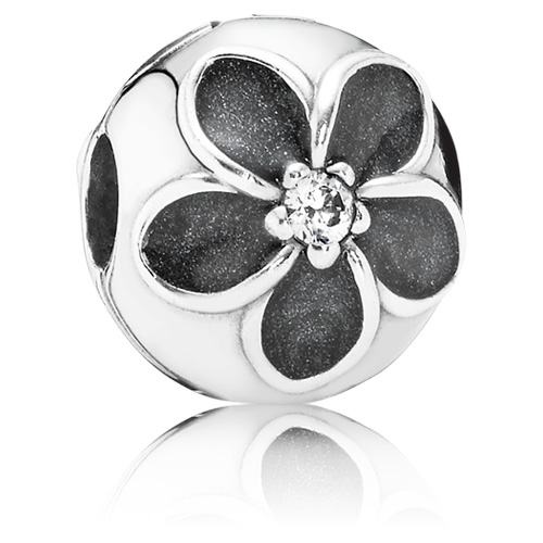 Pandora Jewelry St Louis: Retired PANDORA Mystic Floral Clip With Zirconia :: Clips