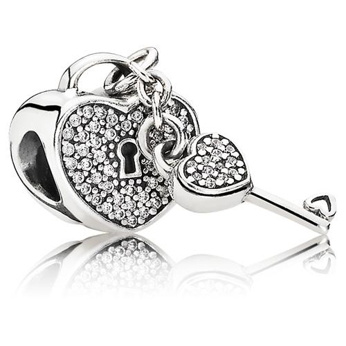 Pandora Jewelry Denmark: PANDORA Lock Of Love Charm :: Gems With Sterling Silver