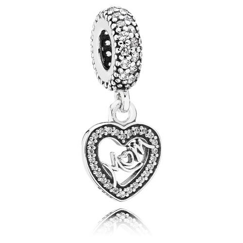 Pandora Jewelry Denmark: PANDORA Center Of My Heart Mom Dangle :: Gems With