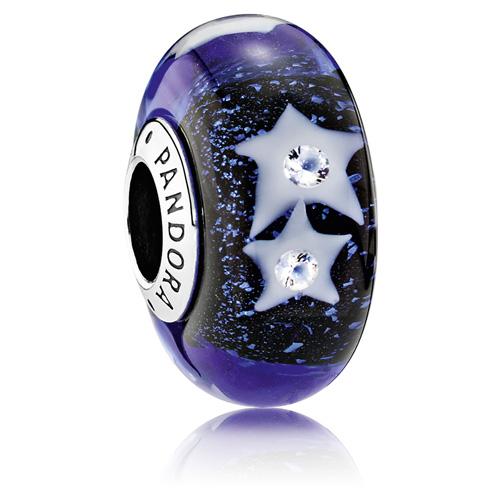 Pandora Jewelry Online Retailers: PANDORA Starry Night Murano Glass Charm :: Murano Glass