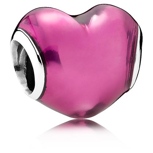 Pandora Jewelry Online Retailers: Retired PANDORA In My Heart Charm With Violet Enamel