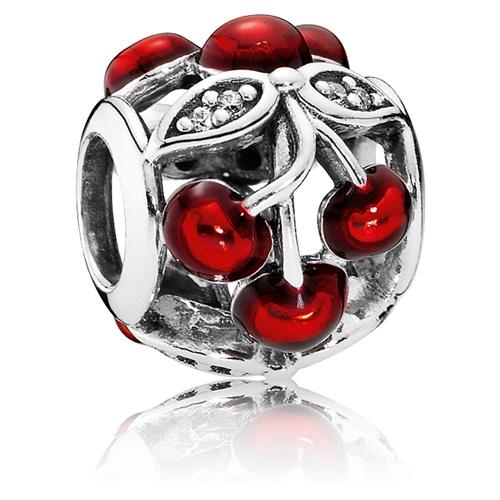 Pandora Jewelry Online Retailers: Retired PANDORA Sweet Cherries Charm :: Enamel Charms