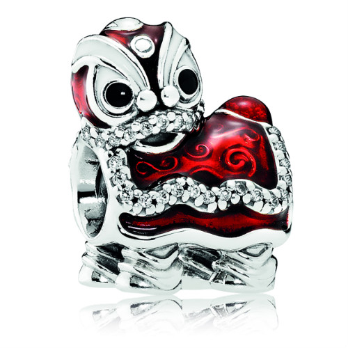 Pandora Chinese Lion Dance Charm Gems With Sterling
