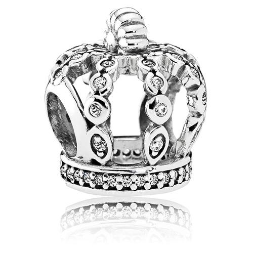 Pandora Jewelry Denmark: PANDORA Fairytale Crown Charm :: Gems With Sterling Silver