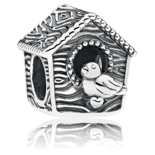 Retired Pandora Spring Bird House Charm Sterling Silver Charms 797045 Authorized Online Retailer