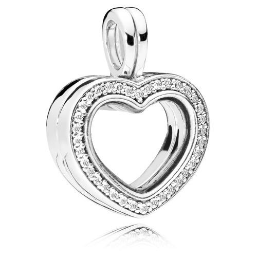 c665a0cfe PANDORA Sparkling PANDORA Floating Heart Locket :: Necklace Stories ...