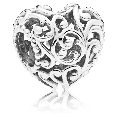 Pandora Jewelry Online Retailers: Pandora Regal Heart Charm :: Sterling Silver Charms 797672