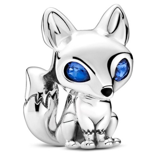 Blue-Eyed Fox Charm