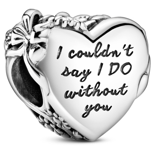 Maid of Honor Engraved Heart Charm