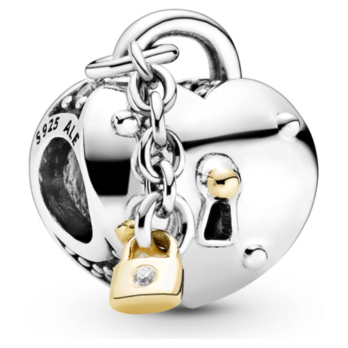 Heart and Lock Charm