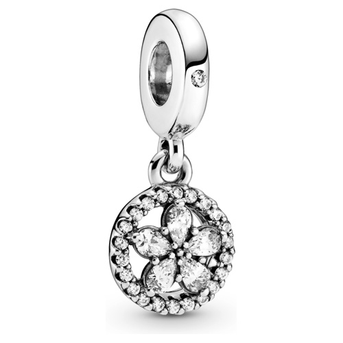 Sparkling Snowflake Circle Dangle