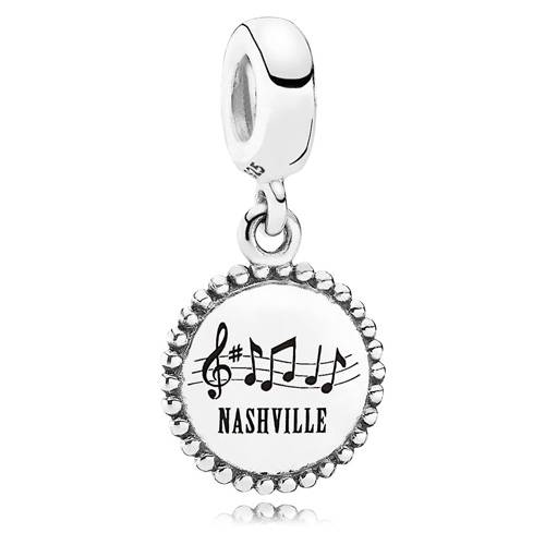 Retired PANDORA Nashville Dangle Charm    Sterling Silver Charms ... 61f836e422e