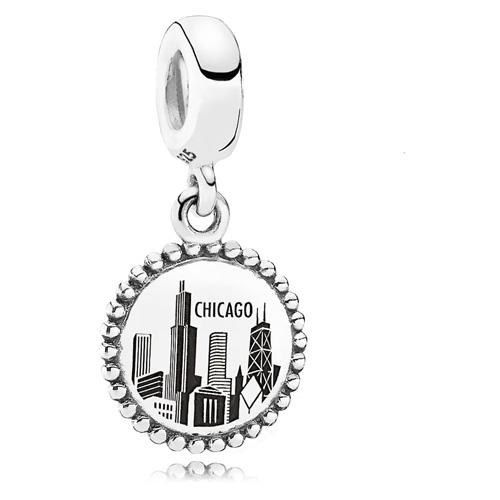 Retired PANDORA Chicago Dangle Charm :: Sterling Silver