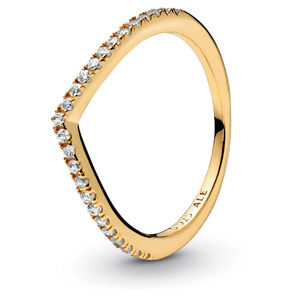 Pandora Shine ™ Sparkling Wishbone Ring