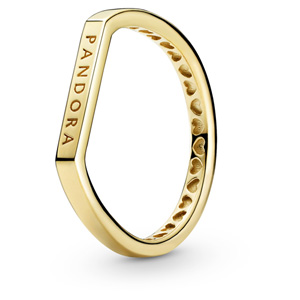 Pandora Shine Logo Bar Ring