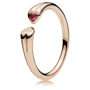 Pandora Rose ™ Two Hearts Open Ring