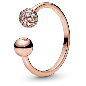 Pandora Rose ™ Polished and Pave Open Ring