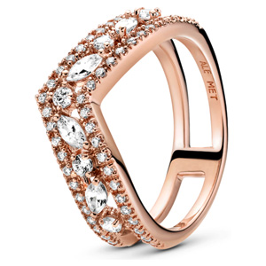 Pandora Rose ™ Sparkling Marquise Double Wishbone Ring