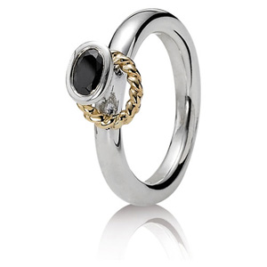 75bd39711 Retired Pandora Halo Ring with Black CZ :: Ring Stories 190830CZK ::  Authorized Online Retailer