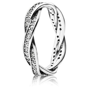 Twist of Fate Ring with Clear Zirconia