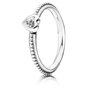 One Love Ring with Clear Zirconia