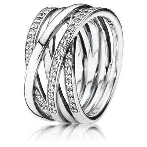 Entwined Ring with Zirconia