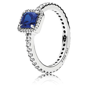 Timeless Elegance Ring with Blue Crystal