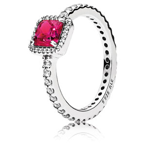 Timeless Elegance Ring with Synthetic Ruby