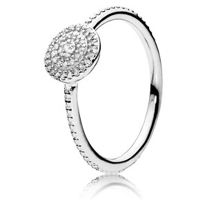 Radiant Elegance Ring with Clear Zirconia