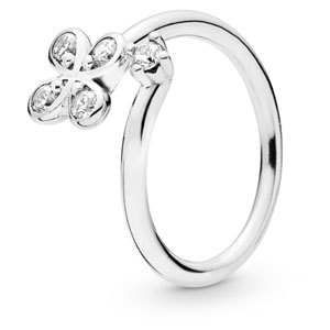 Four-Petal Flower Open Ring