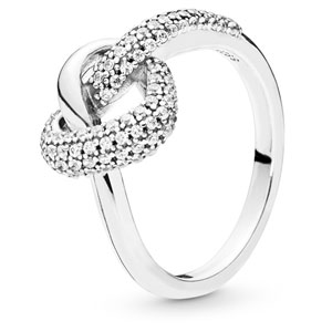 Knotted Heart Ring with Zirconia