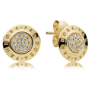 Pandora Shine ™ Logo Stud Earrings