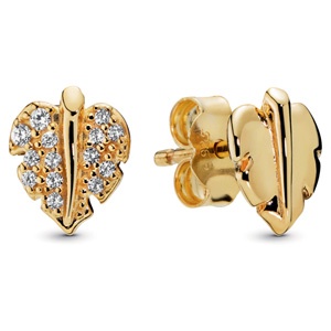 Pandora Shine ™ Shining and Sparkling Leaf Stud Earrings