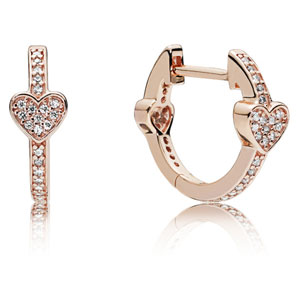 Pandora Rose ™ Alluring Hearts Hoop Earrings