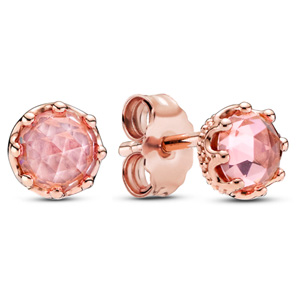Pandora Rose ™ Pink Sparkling Crown Stud Earrings