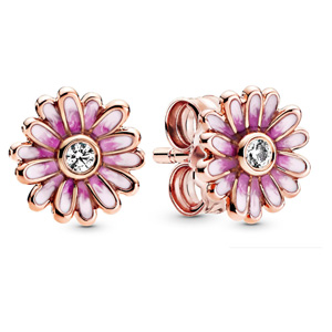Pandora Rose ™ Pink Daisy Flower Stud Earrings