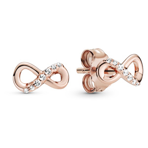 Pandora Rose ™ Sparkling Infinity Stud Earrings