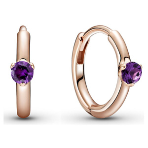 Pandora Rose ™ Purple Solitaire Huggie Hoop Earrings