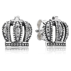 Royal Crown Stud Earrings