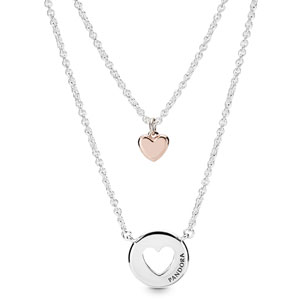 Pandora Rose ™ Layered Heart Necklace